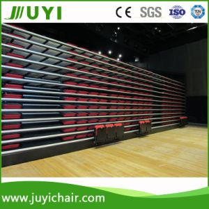 Soft Telescopic Seating Retractable Bleacher with Wooden Back Chair Jy-790 pictures & photos