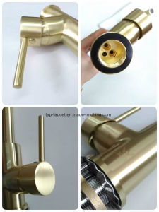 Watermark Watersino Taps Factory Brushed Gold Kitchen Faucet pictures & photos
