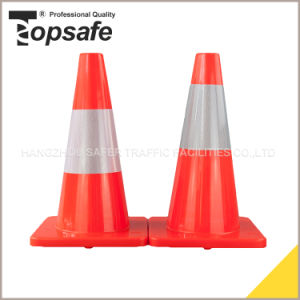 45cm PVC Traffic Cone with 10cm or 15cm Reflective Tape pictures & photos