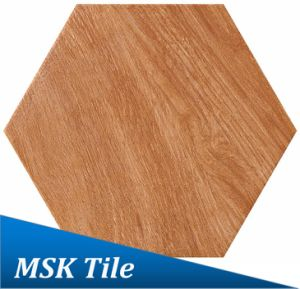 Wood-Look Porcelain Hexagon Rustic Tile Kl-10-H2 pictures & photos