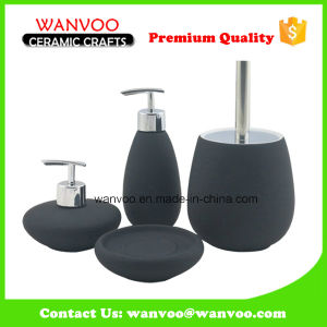 Ceramic Bathroom Accessories with 2 Lotion Pump of Spraying Glazed pictures & photos