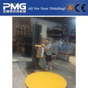 Turntable Manual Pallet Stretch Wrapping Machine for Sale pictures & photos