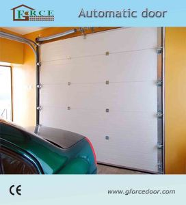 Ce Certification Remote Control Sectional Garage Door with Polyurethane Foam pictures & photos