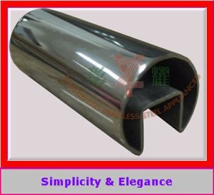 304 316 Decorative Stainless Steel Slotted Pipe for Glass pictures & photos