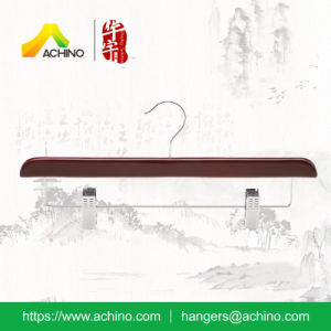 Hot Selling Wooden Skirt Hanger (WPSH006-A) pictures & photos
