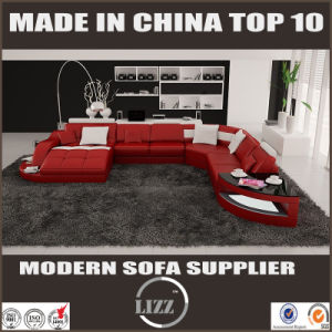 Modern Living Room Furniture Leather Corner Sofa (LZ-2217) pictures & photos