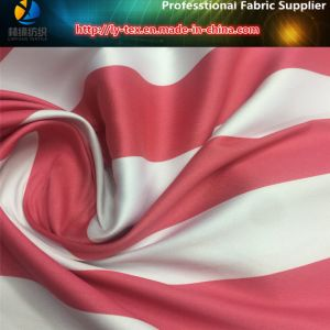Polyester Yarn Dyed of Red/White Sateen Stripe for Dress (YD1183) pictures & photos