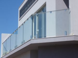 Outdoor Balcony Spigot Glass Railing pictures & photos