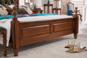 New Design Solid Wood Furniture American Country Style Bedroom Set (AD811) pictures & photos