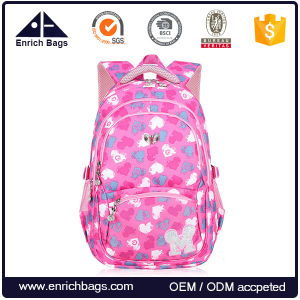 Kid Child Girl Flower Printed Backpack School Bag pictures & photos