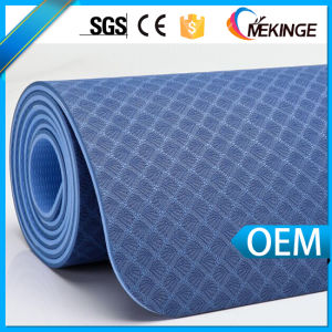 New Design Printed Black TPE Yoga Mat for Sale pictures & photos