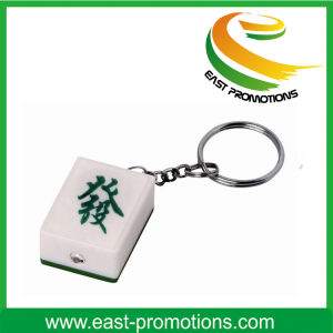 Mahjong Shaped Plastic LED Keychain pictures & photos