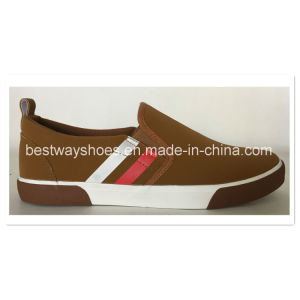 Slip-on PU Leather Casual Shoes pictures & photos