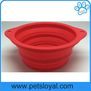 Factory Large Silicone Collapsible Pet Product Supply Dog Feeder Bowl pictures & photos