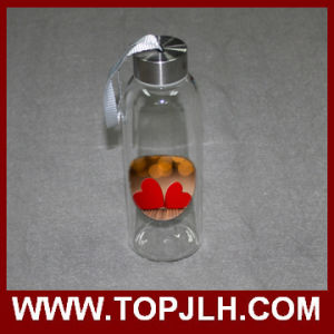 Hot Wholesale Heat Transfer Printed Glass Water Bottle pictures & photos