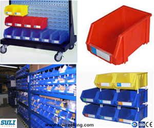 High Quality Stackable Plastic Parts Storage Bin Boxes pictures & photos