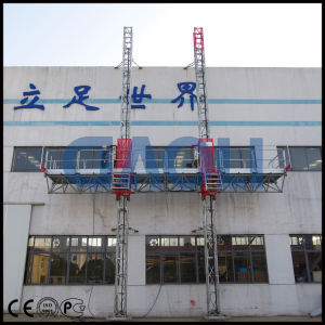 Electric Motor Mast Climbing Work Platform with Galvanised Mast pictures & photos