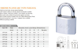 Chrome Plated Padlock Key Customize and Different Packing Can Be Choose pictures & photos