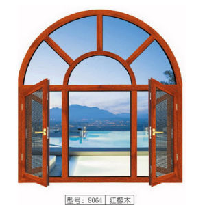 Hot Seller Double Tempered Glass Aluminum Arc Window pictures & photos