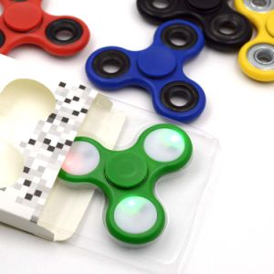 LED Light Glowing Hand Fidget Spinner Tri Plastic Spinner pictures & photos