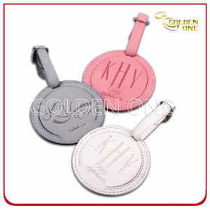Promotion Gift Embossing Logo PU Leather Luggage Tag pictures & photos