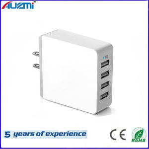 Power Adapter 4 USB Charger for Mobile Phone, Tablet PC