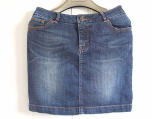 100% Fashioned Ladies Jean Skirt