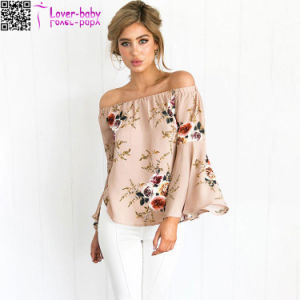 Fashion Sexy Camille Floral off Shoulder Top L579 pictures & photos