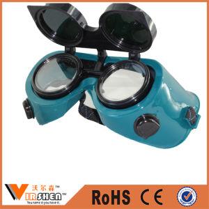 Green Flip-up Welding Eyeglasses Lens Economic PC Lens Eye Protection Welding Goggles pictures & photos