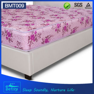 OEM Resilient Cheap Mattress 21cm High with Resilient Bonnell Spring and Polyester Printing Fabric pictures & photos