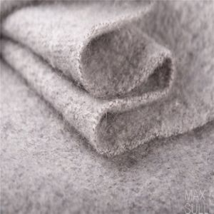 Mohair and Wool Mixed Wool Fabrics with Soft Hand in Gray pictures & photos