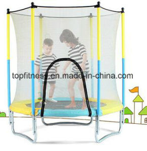 Round Big Trampoline with Enclosure for Children pictures & photos