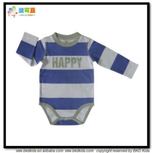 Organic Cotton Baby Clothes Stripe Printing Bodysuits pictures & photos