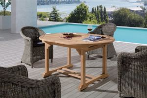 Rattan Outdoor Patio Wicker Malaga / Four Seasons Dining Set Garden Furniture (J637) pictures & photos