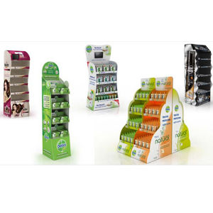 Supermarket Snacks Floor Display Stands Cardboard for Chocolate Cookies pictures & photos