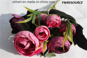 Whole Yeaar Decorative Artificial Rose Flower pictures & photos