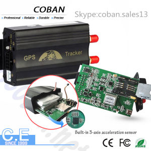 GPS Vehicle Tracking System Support Fuel Monitor Tk103A+B+ Dual SIM Card GPS Tracker for Vehicles pictures & photos