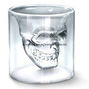 OEM Crystal Double Wall Skull Glass Cup for Pub Supplies pictures & photos