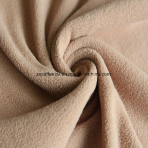 Super Soft Fleece Fabric with Antipilling in Beige Color pictures & photos
