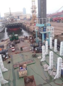 Positioning Pile for Working Ship or Dredger pictures & photos