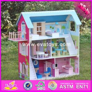 2017 Wholesale Home Play Wooden Doll House Plans, Lovely Kids Wooden Doll House Plans, Best Wooden Doll House Plans W06A169 pictures & photos
