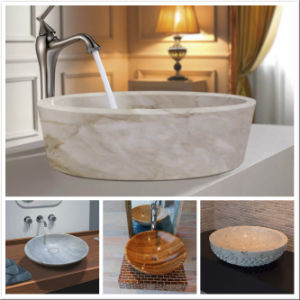 China Cheap Natural Marble Bathroom Basin Wash Sink pictures & photos