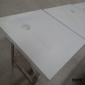 Custom Made Pure White Stone Resin Shower Base pictures & photos