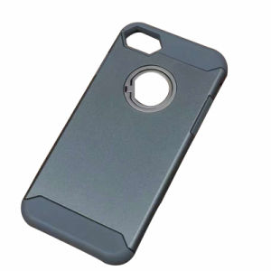 Plastic Silicone Combo Phone Case with Stealth Ring for iPhone7/7puls Mobile Phone Case (XSEH-021) pictures & photos