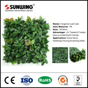 New Design Artificial Plastic Hanging Leafs Hedge for Screening pictures & photos