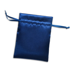Blue Satin Double-Side Drawstring Jewelry Pouch and Gifts Pouch pictures & photos