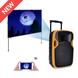 Best Seller Outdoor Trolley DJ Bass Active Wireless Projection Speaker