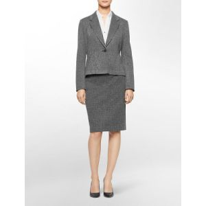One Button Jacket and Skirt Suit for Women pictures & photos