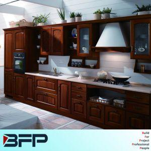 Hot Sale Wooden Grain Fashion Kitchen Cabinet Interior Luxury Design pictures & photos