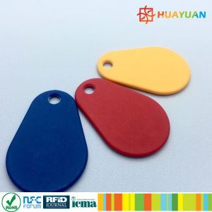 13.56MHz Printed MIFARE Classic 1K Nylon RFID Overmolded Keyfob pictures & photos